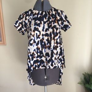 Tops - Gorgeous silk printed High-low blouse